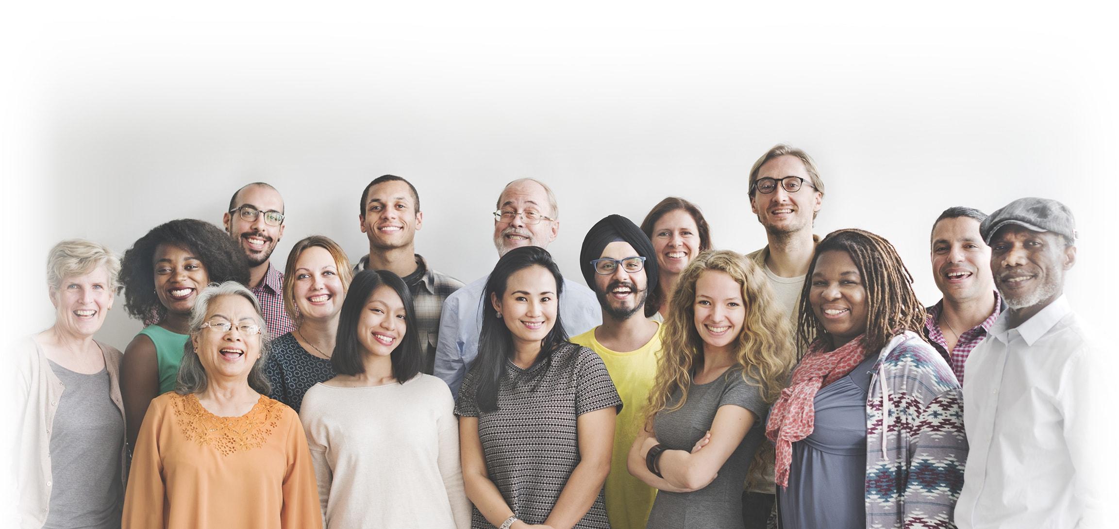 Groupe de patients souriants - déficit en facteur de coagulation rare - Hemophilink